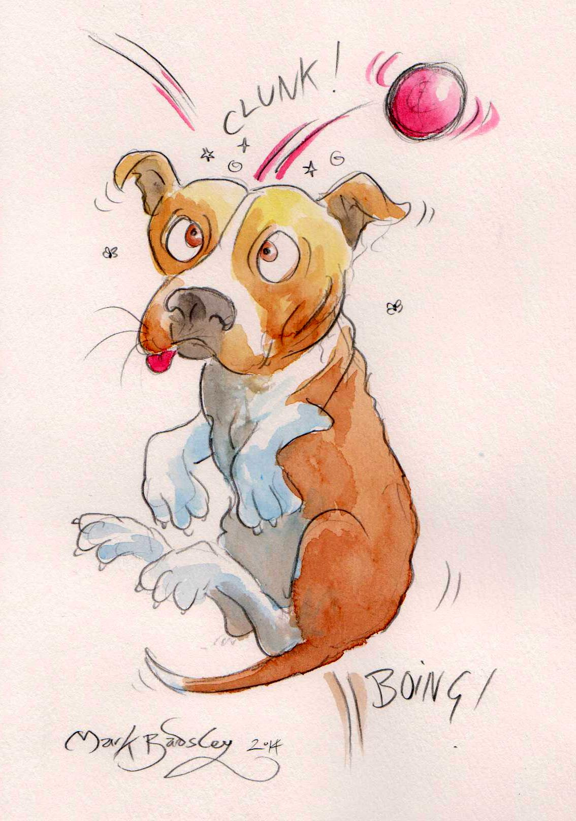 staffy cartoon