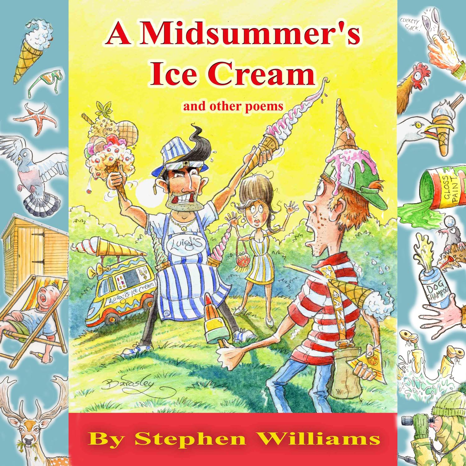 cover design for midsummers ice cream by stephen williams