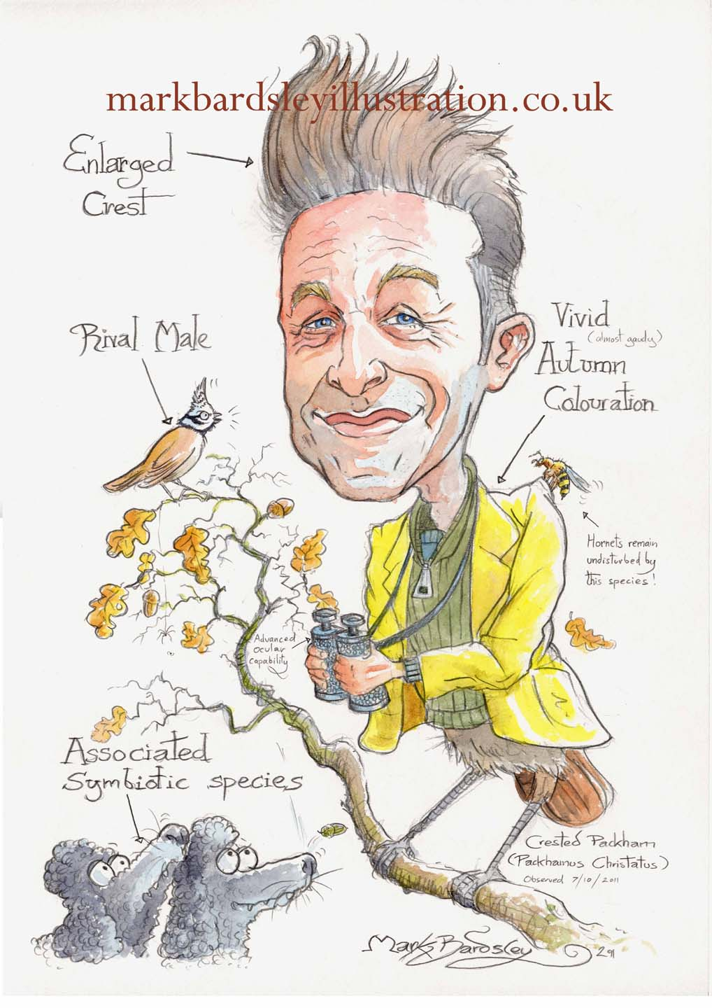 chris packham cartoon