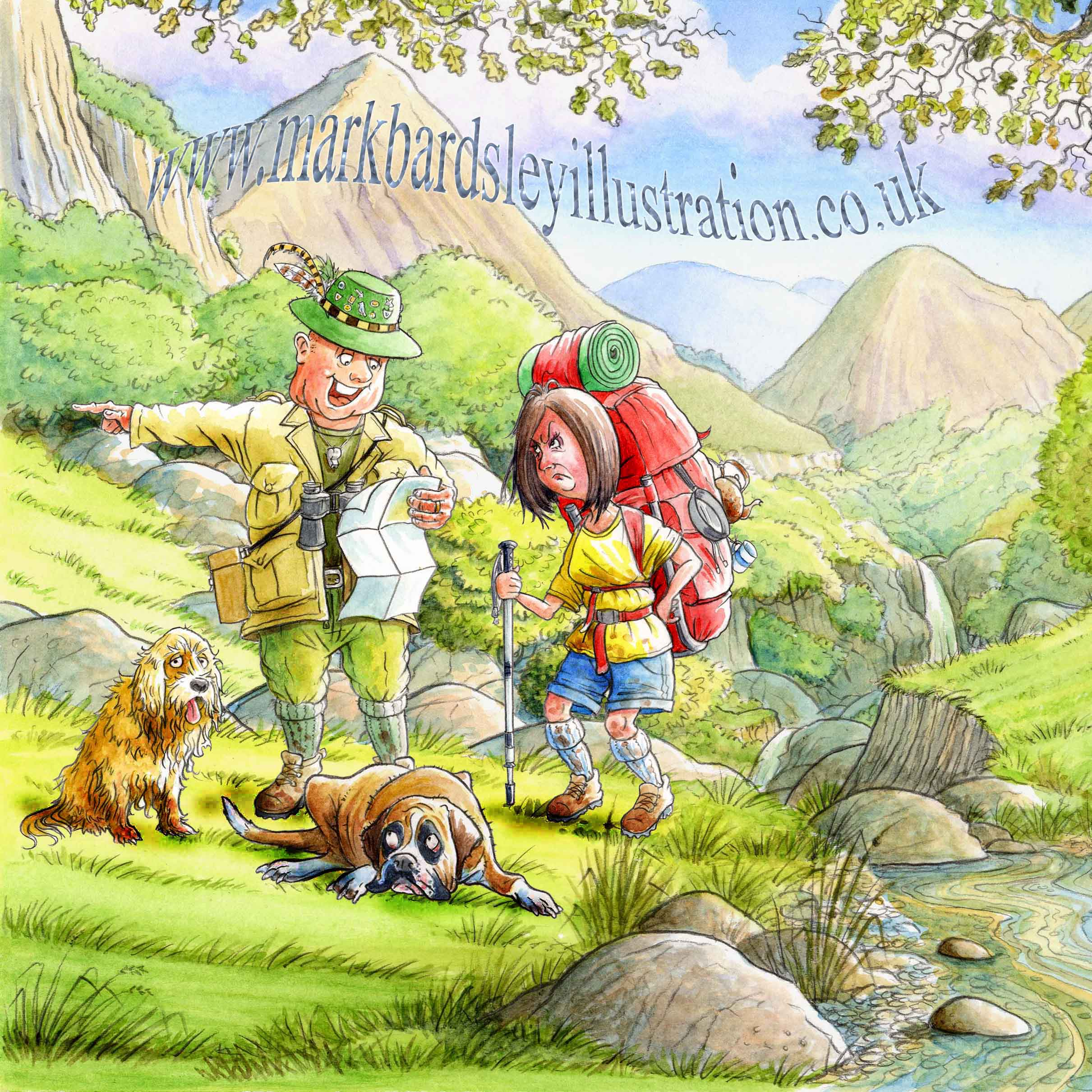 ramblers lost in hills cartoon